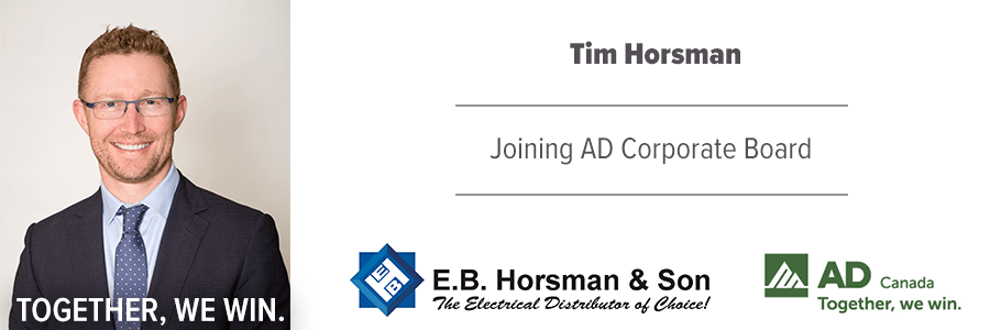 Tim Horsman Joinging AD Board of Directors