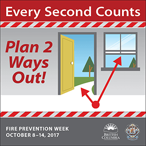 Plan Two Ways Out - Fire Prevention Week BC