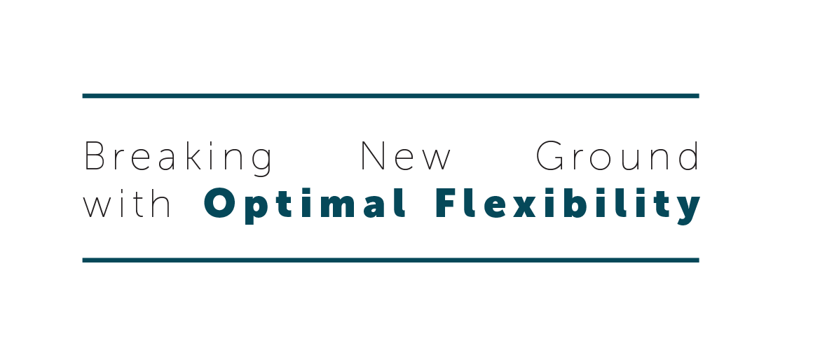 Breaking New Ground breaking new ground with optimal flexibility